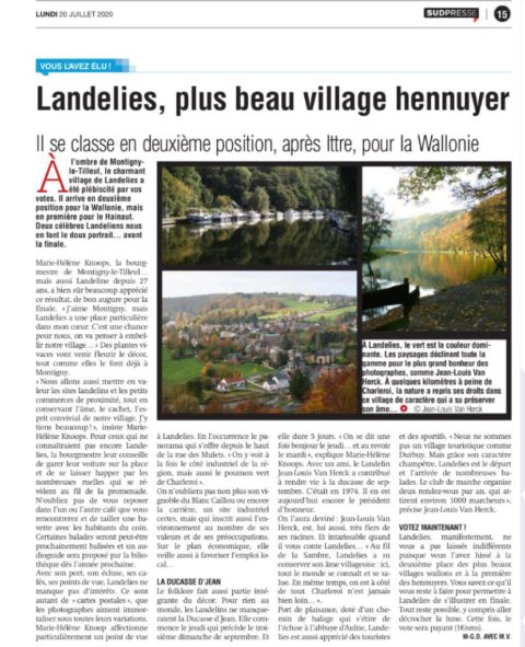 Landelies, plus beau village hennuyer